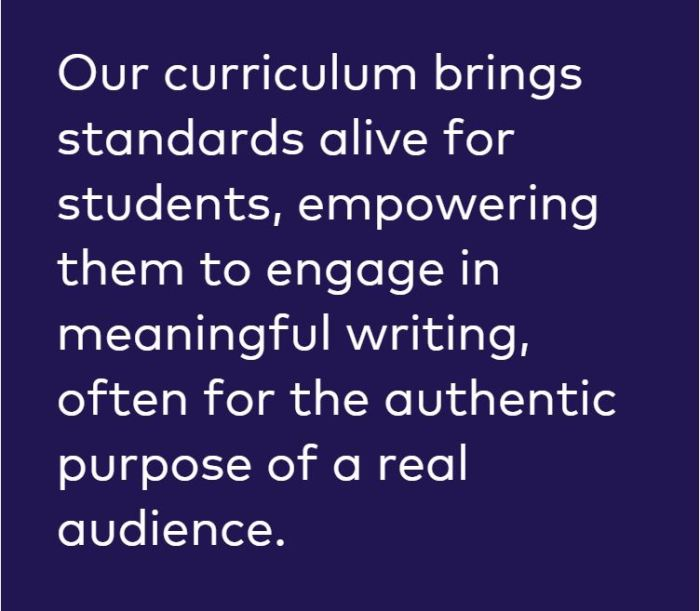 EL curriculm brings standards alive
